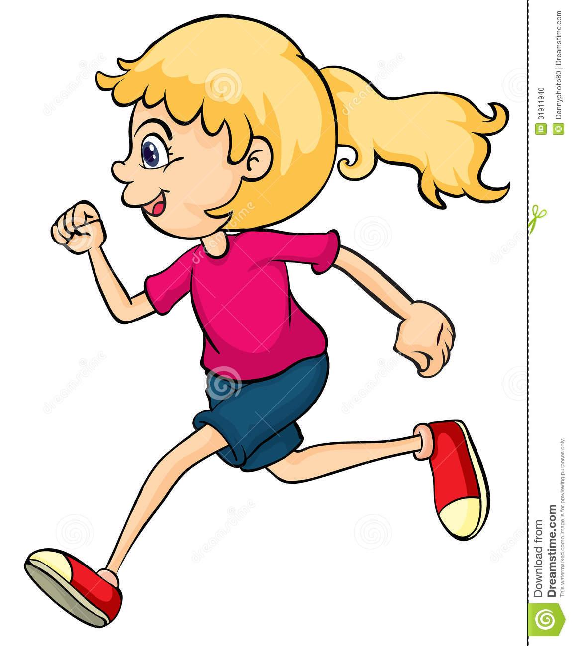 1150x1300 Girl Running Race Clipart