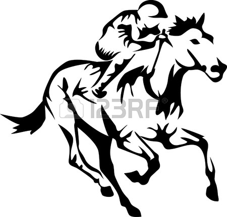 450x431 4,451 Horse With Jockey Stock Vector Illustration And Royalty Free