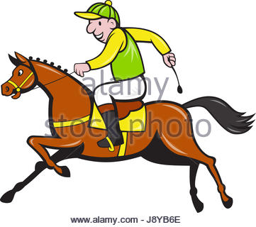 361x320 Jockey Horse Racing Cartoon Stock Vector Art Amp Illustration