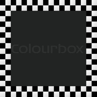 320x320 Checkered Frame, Border. Empty Squarish Picture, Photo Frame