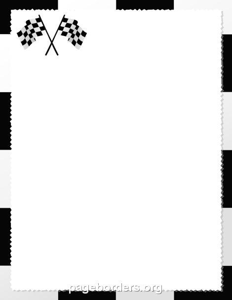470x608 Race Border Cliparts