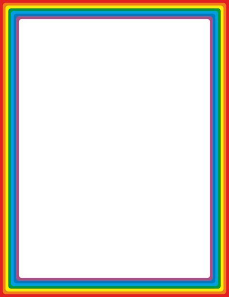 470x608 Rainbow Page Border. Free Downloads