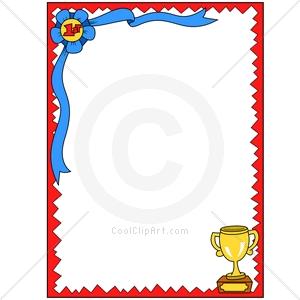 300x300 Trophy Clipart Border