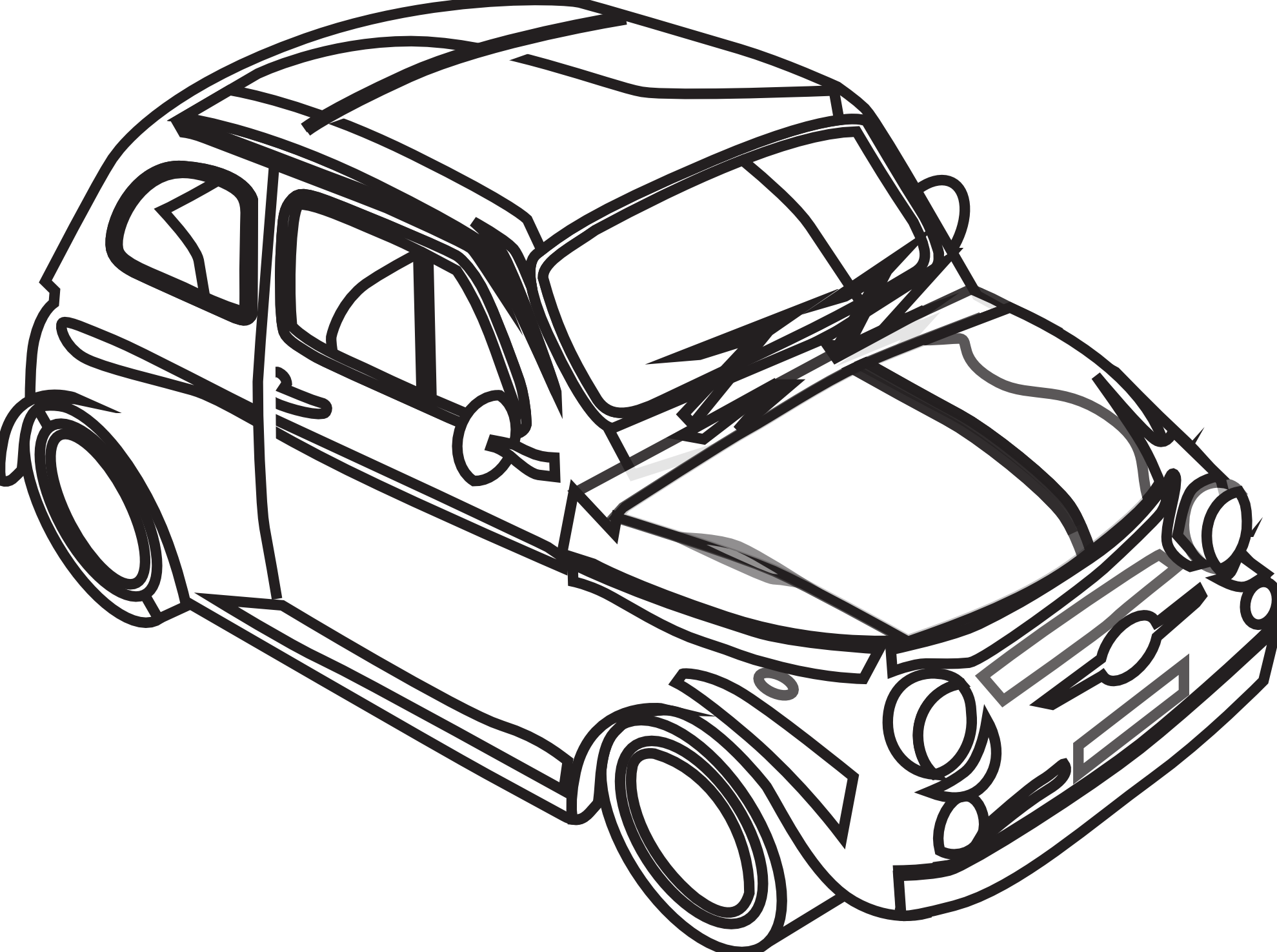 1979x1475 Free Black And White Car Clipart