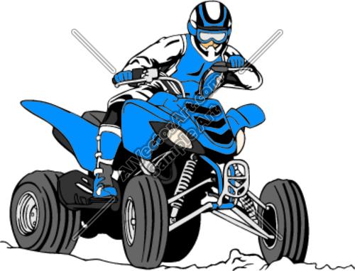 500x382 Atv Racing Clipart