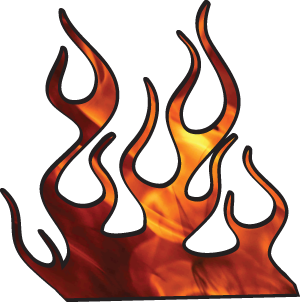 300x302 Racing Flames Clipart