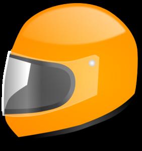 282x300 Yellow Racing Helmet Clip Art