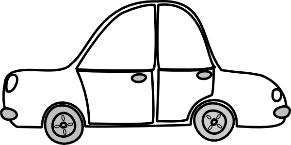 600x299 Image Of Car Clipart Black And White