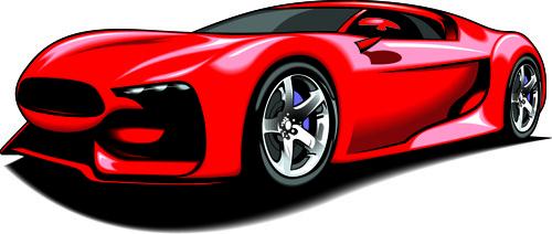 500x212 Sports Car Vector Clip Art