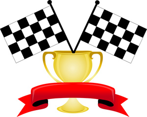 300x240 Auto Racing Clipart Image