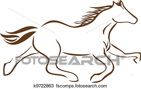 450x286 Clipart Of Racing Horse Logo Vector Stock K9722863