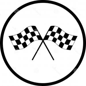 300x300 Exclusive Motor Racing Flags Clip Art Design Vectory