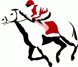 250x217 Horse Racing Clipart