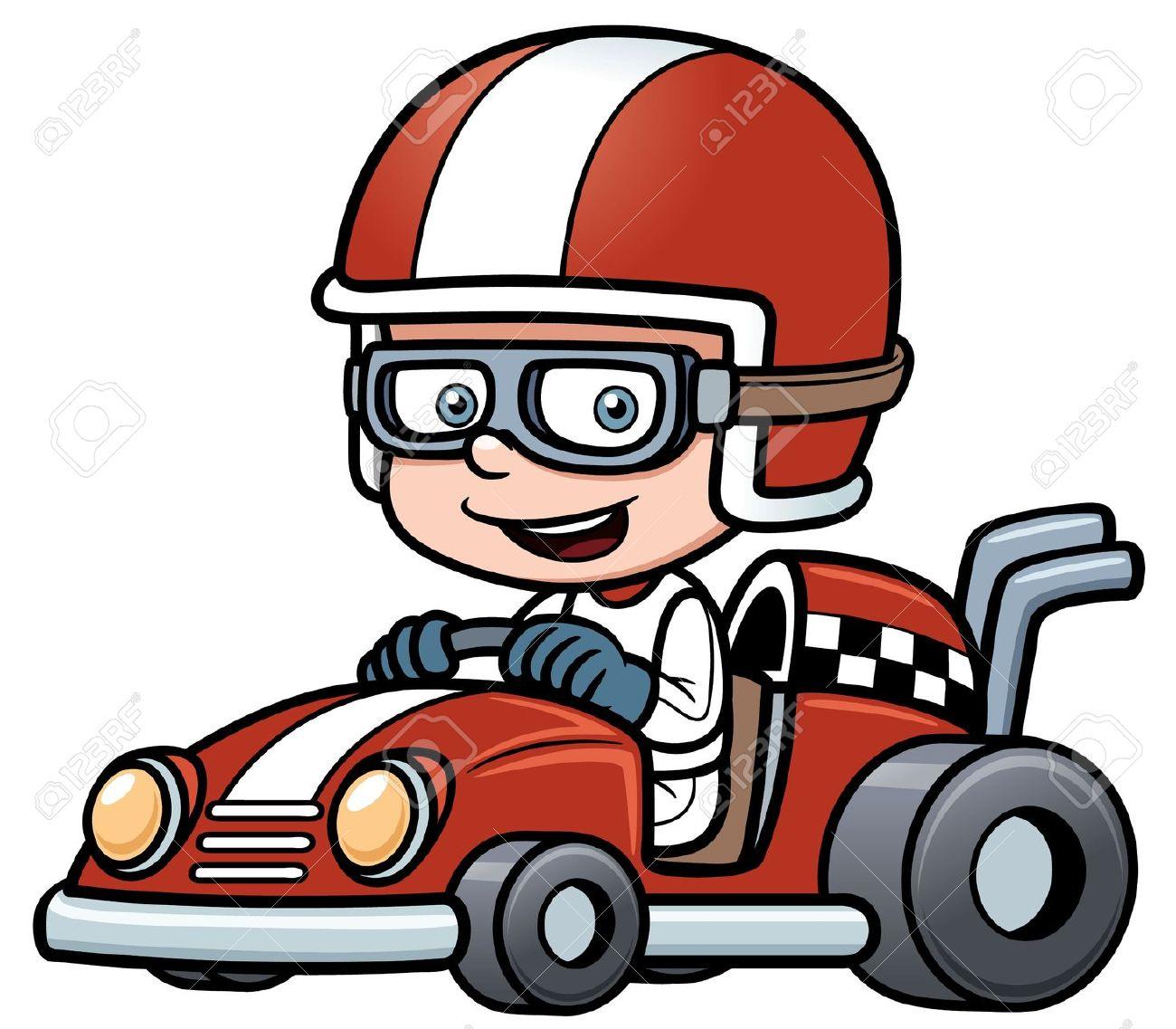 1300x1137 Kart racing clipart