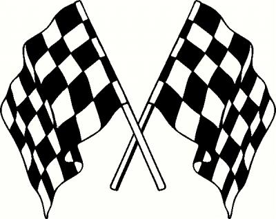 400x318 Racing Flags Clip Art