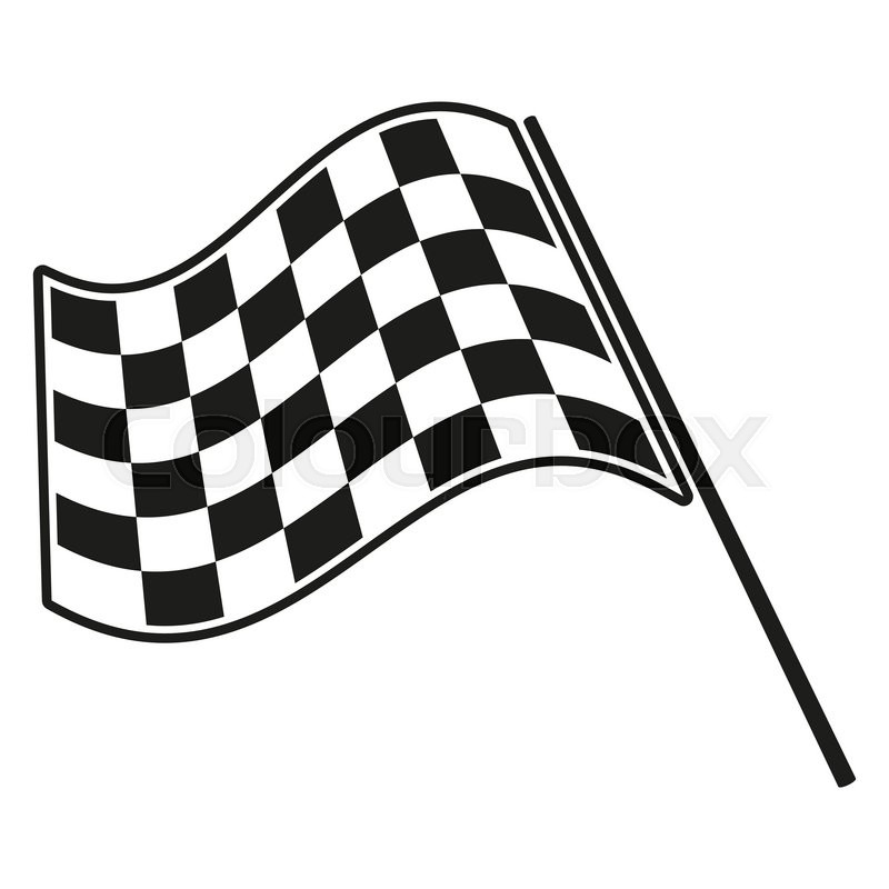 800x800 Checkered Flag Racing Stock Vector Illustration Clip Art