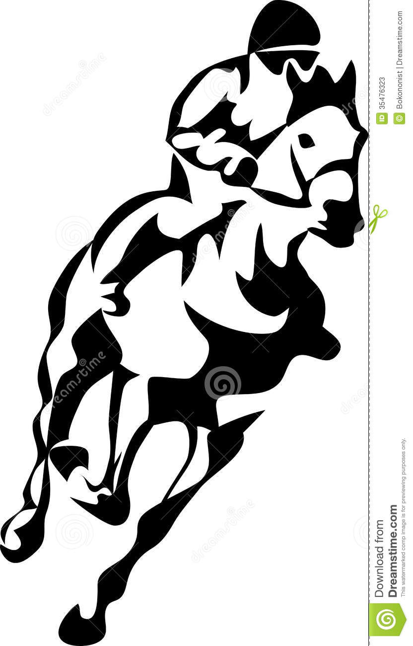 832x1300 Horse Racing Clipart Black And White