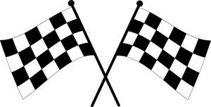 300x152 Race Car Clipart Checkered