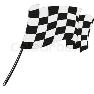 320x320 Checkered Flag Racing. Stock Vector Illustration. Clip Art Stock