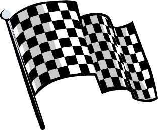 313x259 Black And White Checkered Flag Clipart