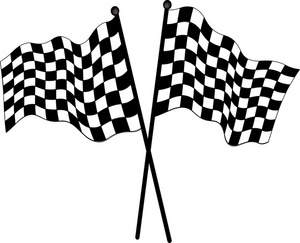 300x243 Free Checkered Flag Clip Art Image