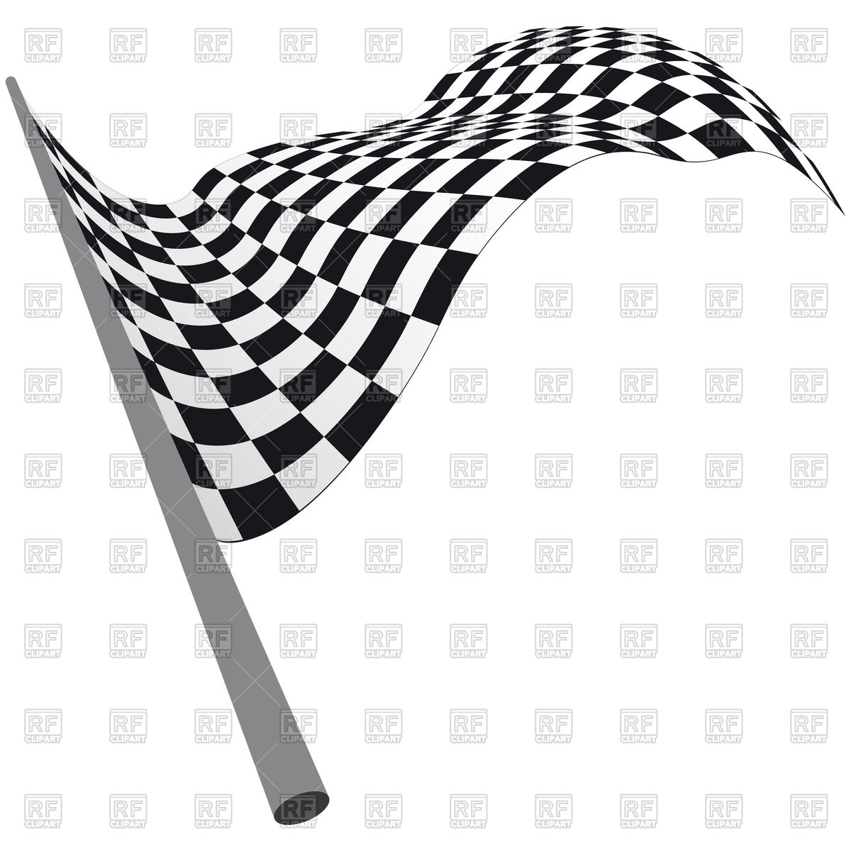 1200x1200 Black And White Checkered Racing Flag Royalty Free Vector Clip Art