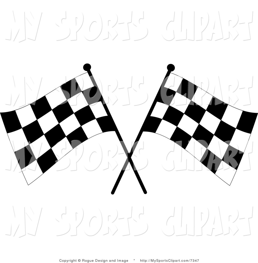 1024x1044 Sports Clip Art Of A Two Checkered Flags By Pams Clipart