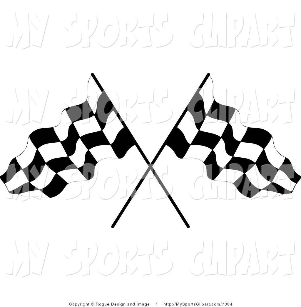 1024x1044 Sports Clip Art Of A Two Crossed Checkered Flags By Pams Clipart
