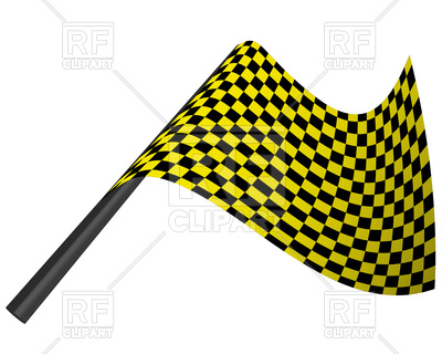 400x320 Yellow And Black Checked Racing Flag Royalty Free Vector Clip Art
