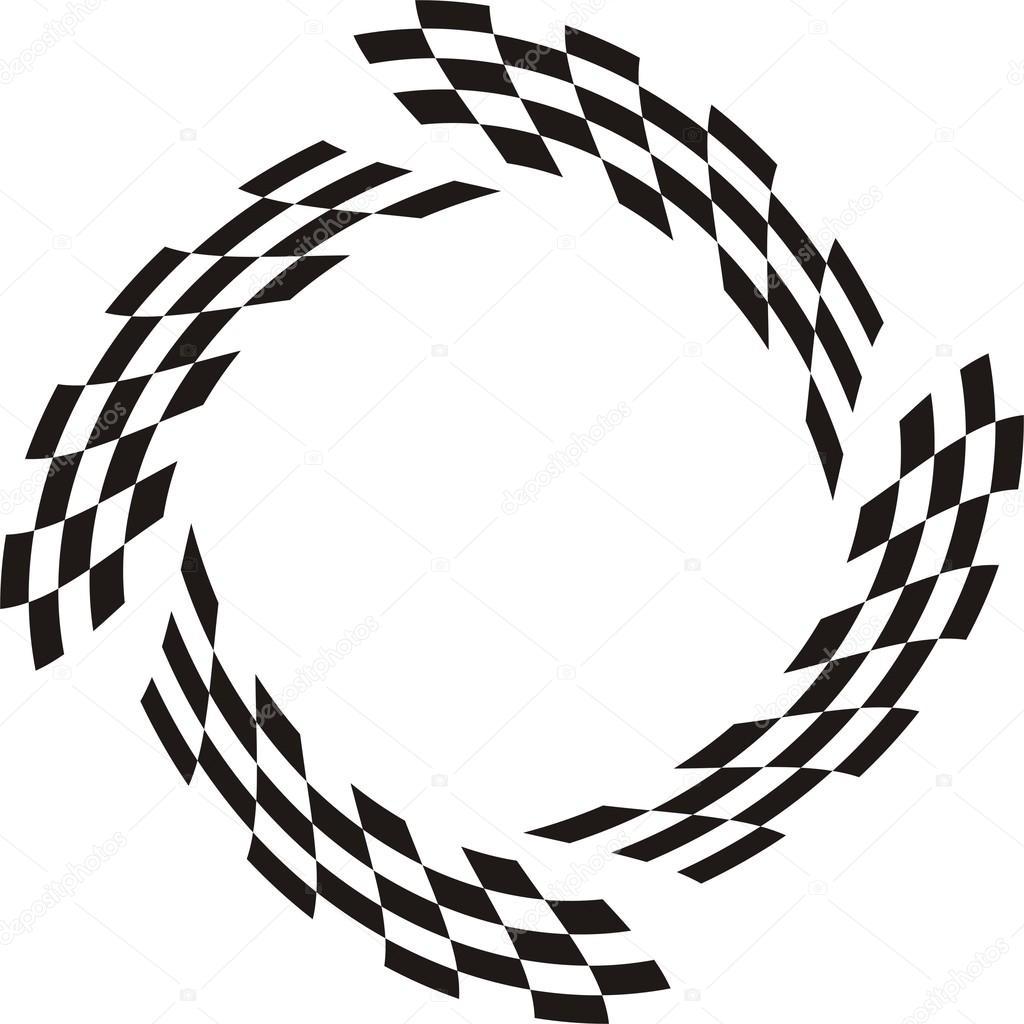 1024x1024 Flag Racing Vector