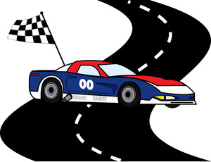 300x230 Racing Clipart Image