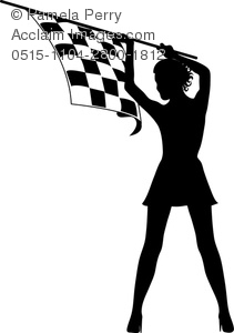 211x300 Art Image Of A Silhouette Of A Sexy Girl Holding A Checkered