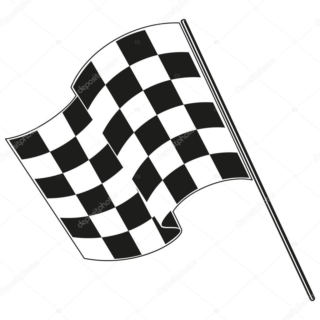 1024x1024 Checkered Flag Racing Stock Vector Gorbovoi81