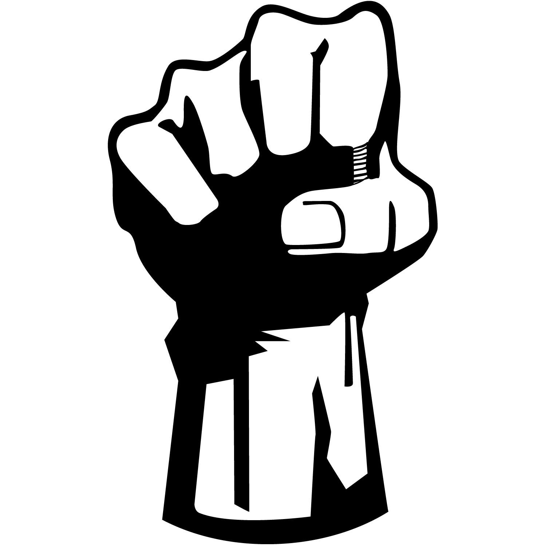 1500x1500 Black Power Fist Clipart
