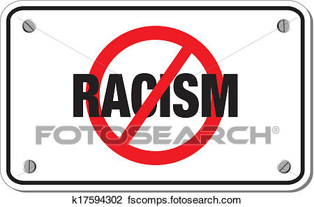 450x297 Clipart Of Racism Rectangle Sign K17594302