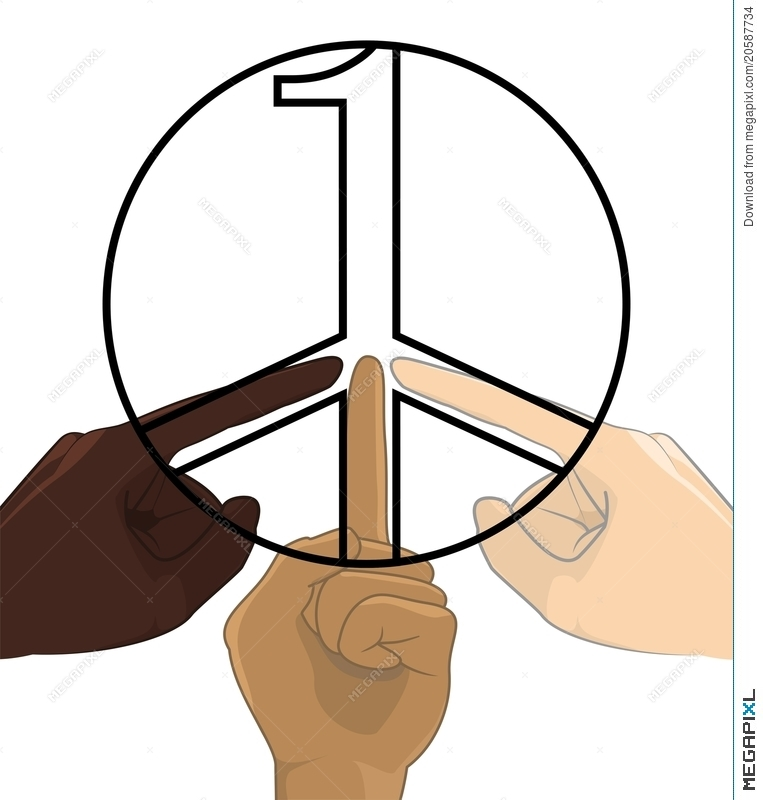 763x800 United As One No Racism World Peace Symbol Concept Illustration