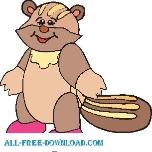 305x305 Free Raccoon Vector Free Vector Download (32 Free Vector)