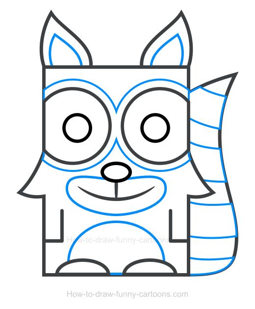 520x629 Raccoon Clipart 4