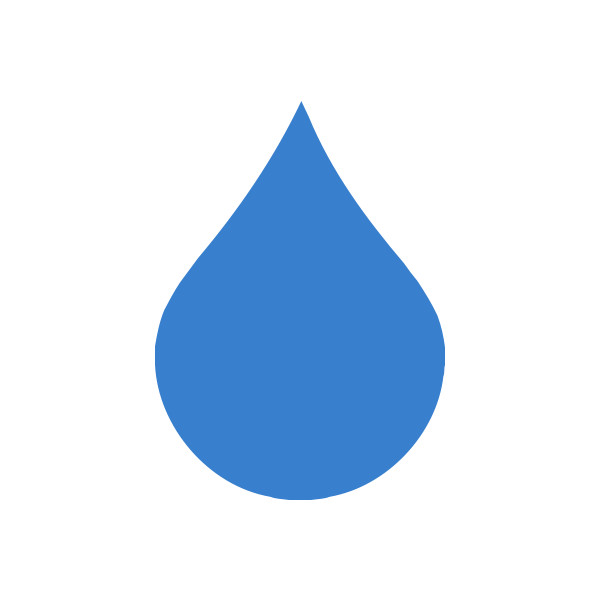 600x600 Free Clipart Of A Single Rain Droplet