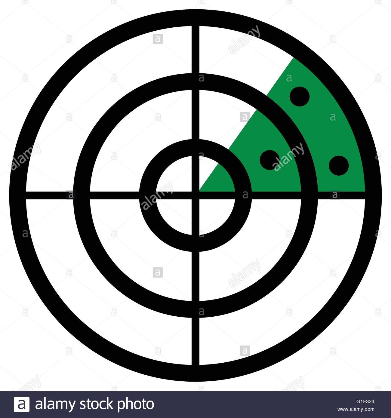 1300x1390 Radar Screen Symbol, Clip Art With Targets. Radar Icon Stock
