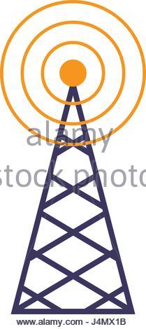 209x470 Radio Waves Wireless Radio Signal Icon Set Stock Vector Art