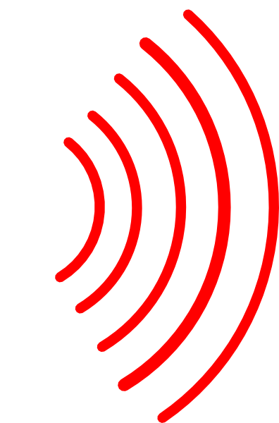 396x600 Red Radio Waves Clip Art