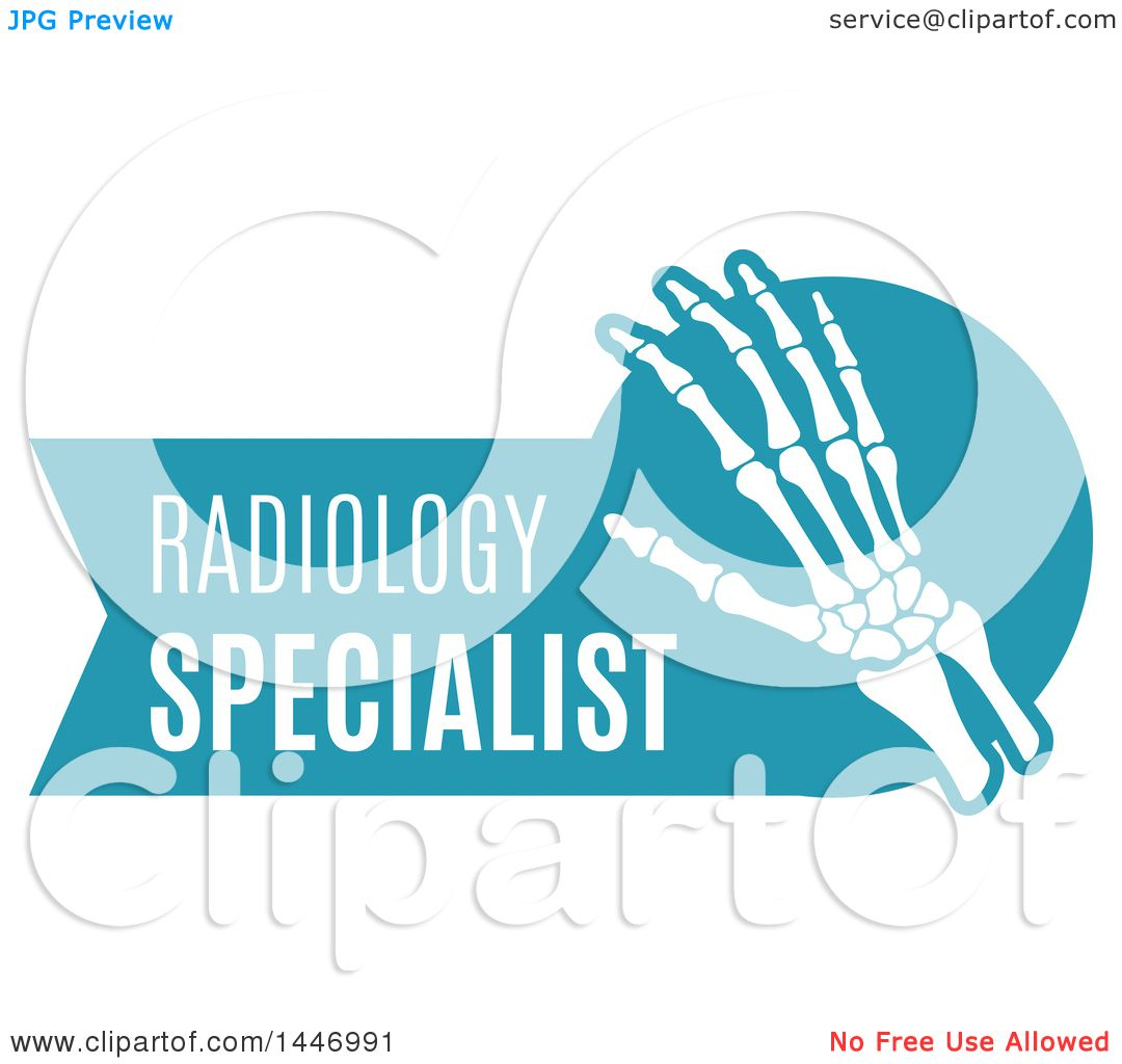 1080x1024 Clipart Of A Human Wrist And Hand Over A Blue Badge With Radiology