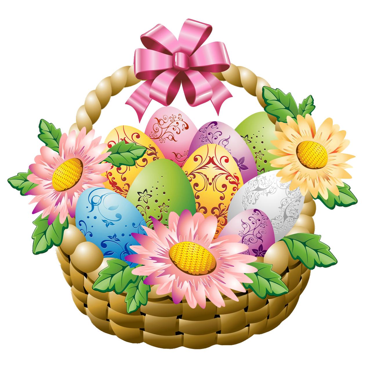 1280x1280 Gift Clipart Flower Basket