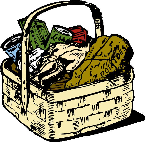 600x586 Picnic Basket Clipart Food Hamper