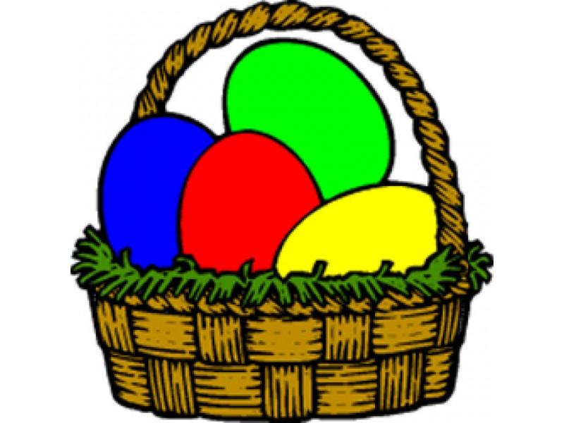800x600 Basket Clipart Easter Egg Hunt
