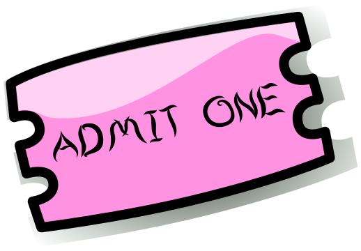 518x360 Admit One Ticket Clipart