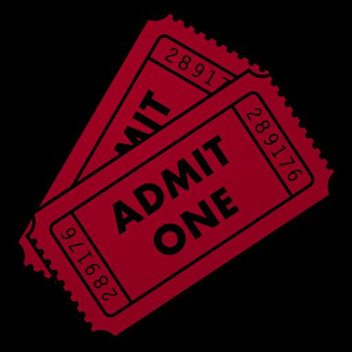 512x512 Movie Ticket Clipart