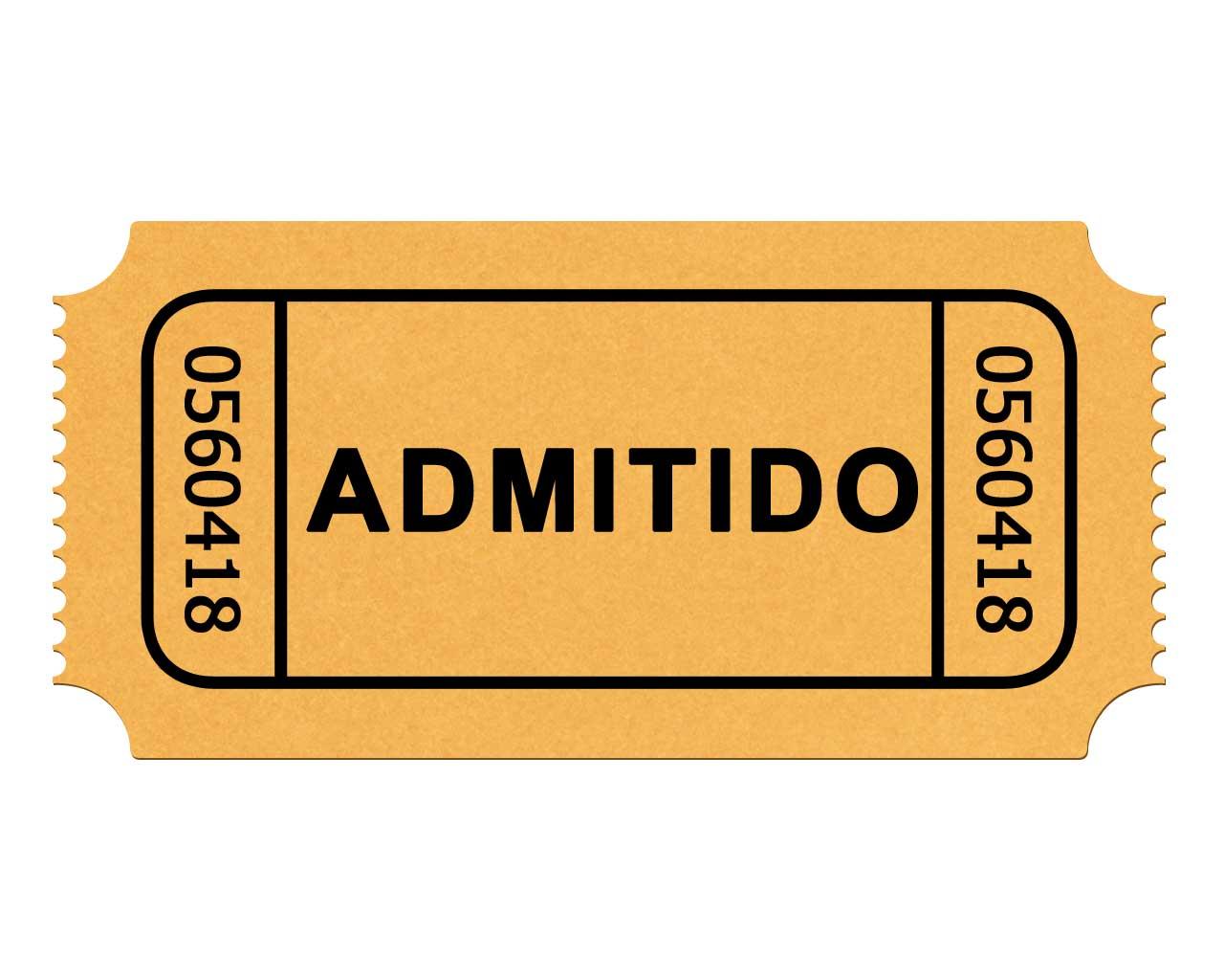 1280x1024 Ticket Stub Clipart