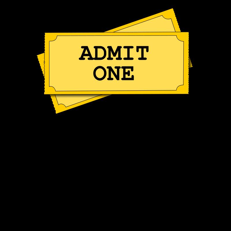 800x800 Ticket Clip Art